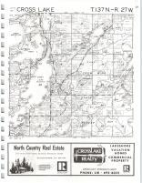 Cross Lake, North Cross Lake T137N-R27W, Crow Wing County 1975